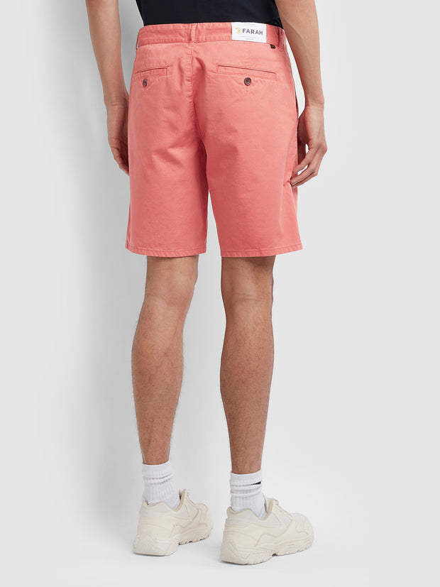 Hawk Dyed Twill Chino Shorts In Jalapeno