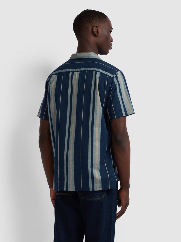 Laredo Casual Fit Short Sleeve Striped Shirt In Yale