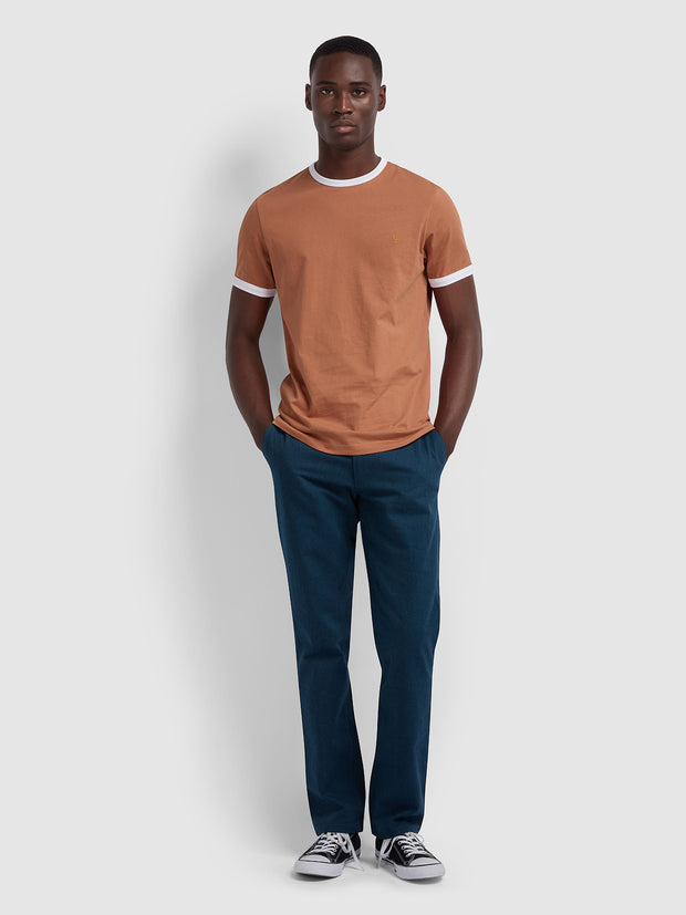 Groves Slim Fit Ringer T-Shirt In Jalapeno