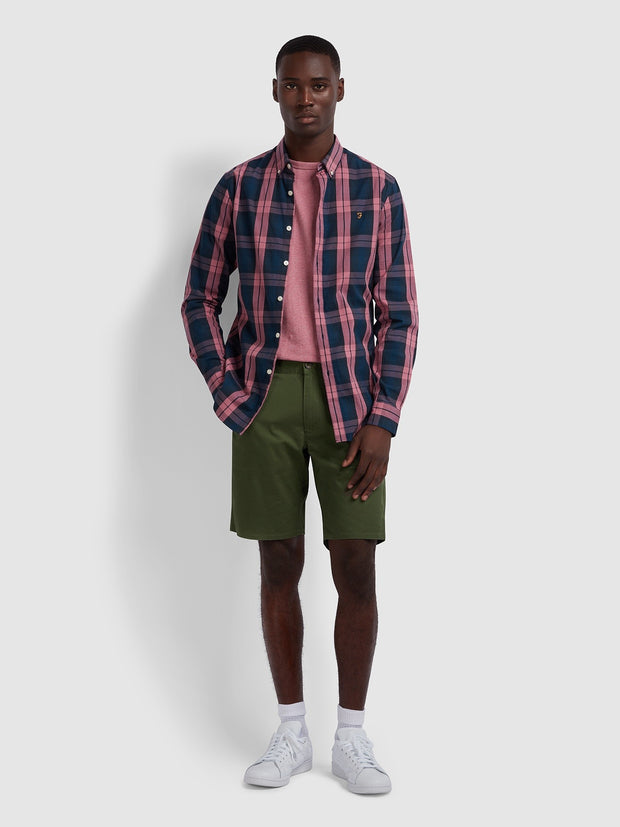 Hawk Twill Chino Shorts In Farah Green