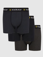 Admirality 3 Pack Boxers In Black