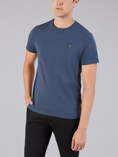 DENNY SLIM FIT T-SHIRT IN NAVY