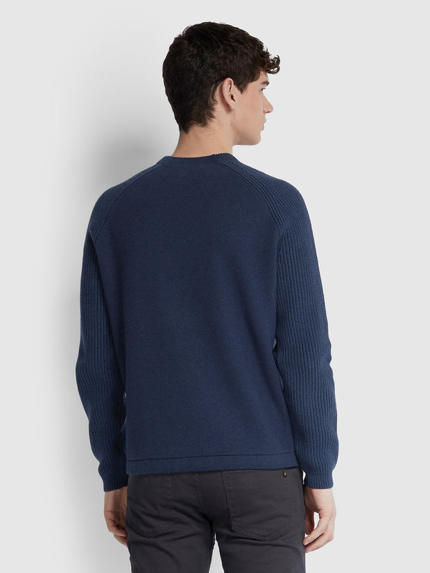 Bouler Crew Neck Jumper In Yale Marl