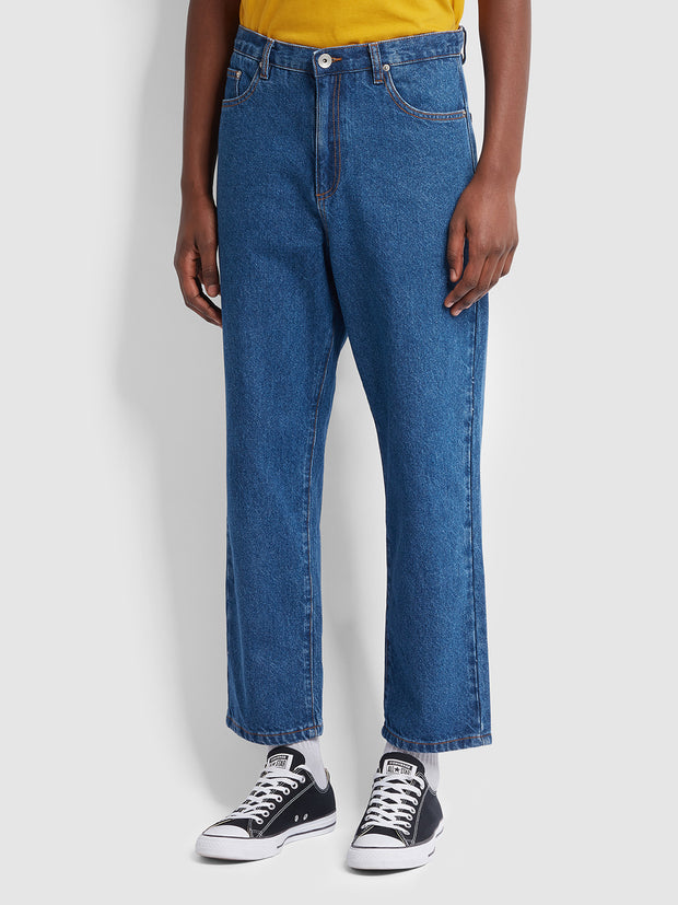 Farah X YMC Denim Trousers In Vintage Wash