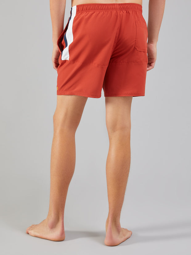 Docherty Swim Shorts In Red Ochre