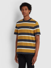 CELTIC STRIPED T-SHIRT IN GOLD MARL
