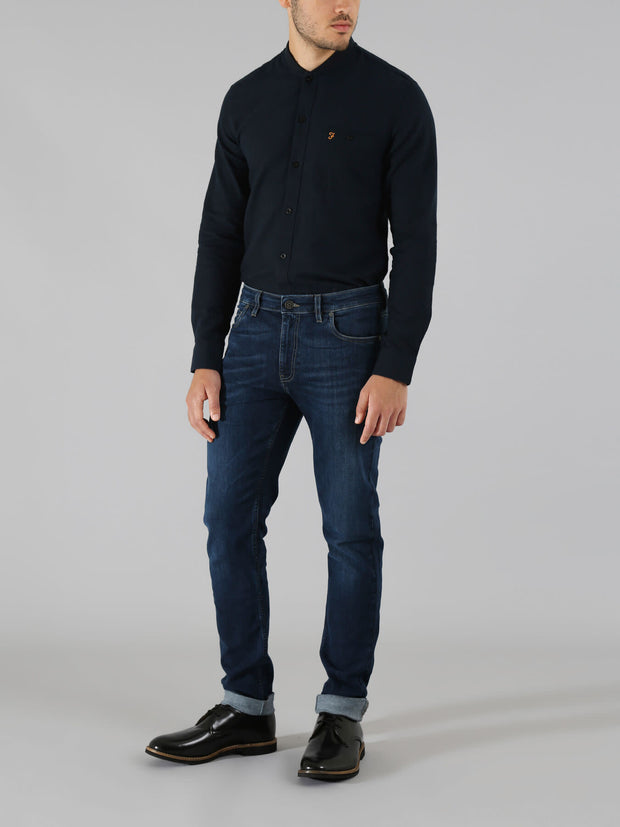 DRAKE SKINNY FIT SOFT STRETCH JEANS IN MID DENIM