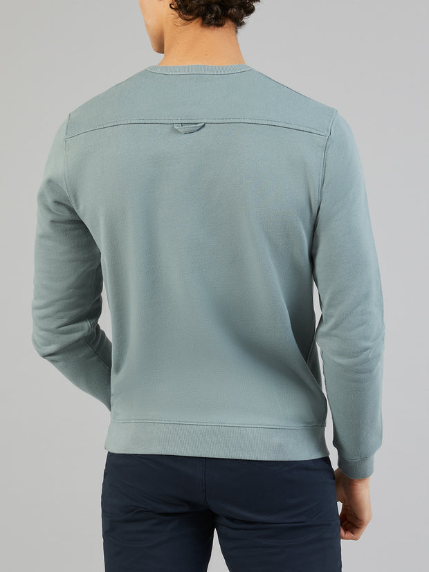 PICKWELL COTTON CREW NECK SWEATSHIRT IN CLAY