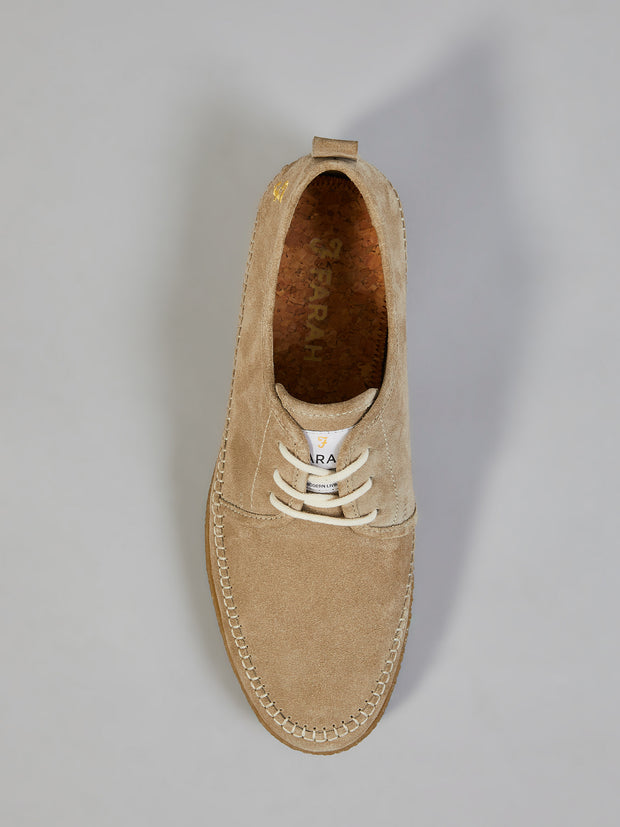 STIEG SUEDE SHOE IN ALMOND