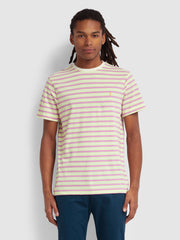 India Slim Fit Striped T-Shirt In Ecru