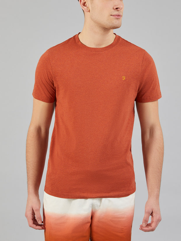 DENNY SLIM FIT MARL T-SHIRT IN FIRE BRICK MARL