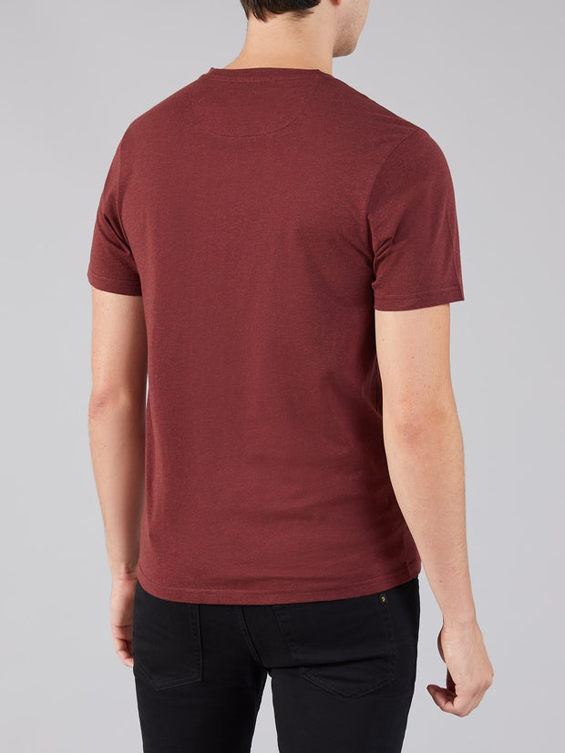 DENNY SLIM FIT MARL T-SHIRT IN FARAH RED MARL