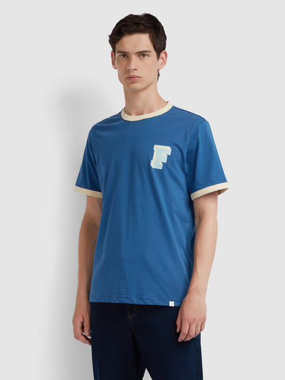 Bliss T-Shirt In Dusky Blue