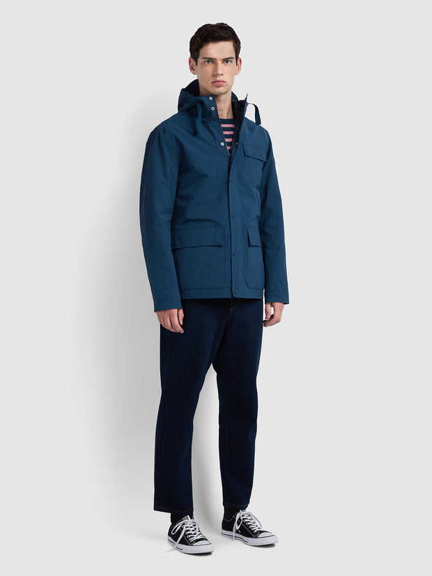 HANLEY COAT IN FARAH TEAL