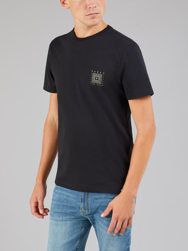 ALFREDO GRAPHIC T-SHIRT IN DEEP BLACK