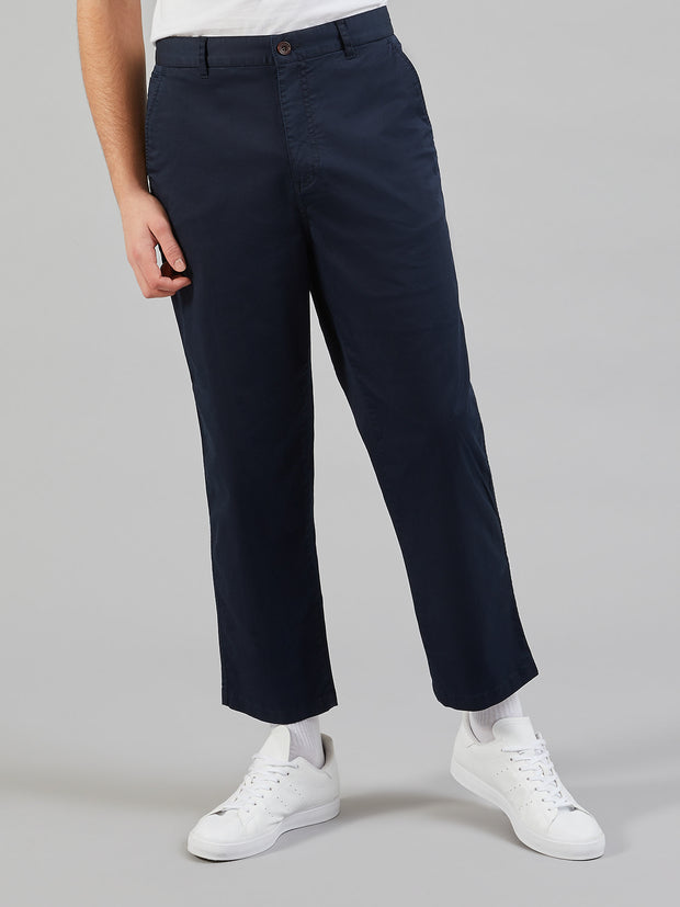 Hawtin Relaxed Fit Cropped Trousers In Yale