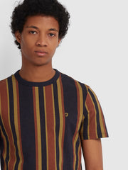 PRIMROSE SLIM FIT STRIPED T-SHIRT IN TRUE NAVY