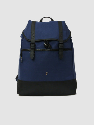 Helix Hopsack Rucksack In True Navy