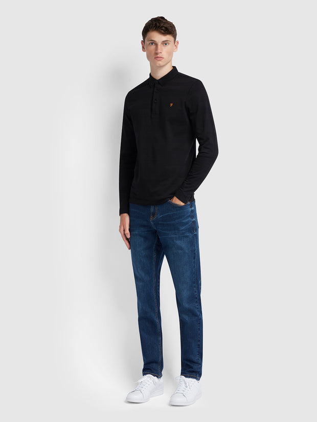 Daubeney Tapered Fit Stretch Jeans In Mid Denim