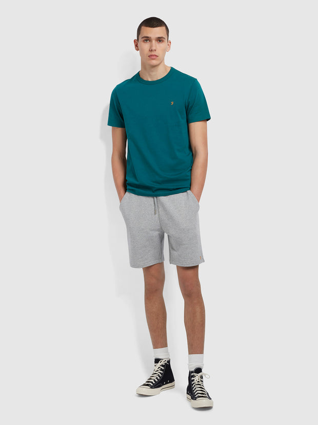 Danny Slim Fit Organic Cotton T-Shirt In Dark Teal