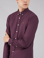 BREWER SLIM FIT OXFORD SHIRT IN BLACKBERRY