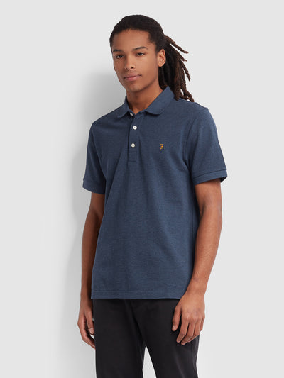Blanes Slim Fit Polo Shirt In Farah Teal Marl