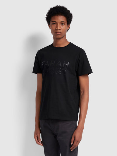 RUSHTON SLIM FIT T-SHIRT IN DEEP BLACK