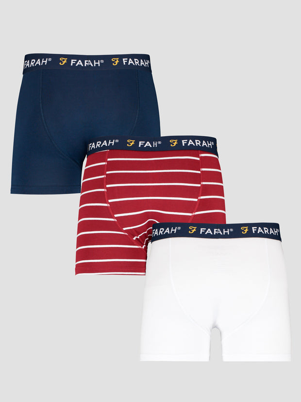 Purvis 3 Pack Boxers In Assorted Colours