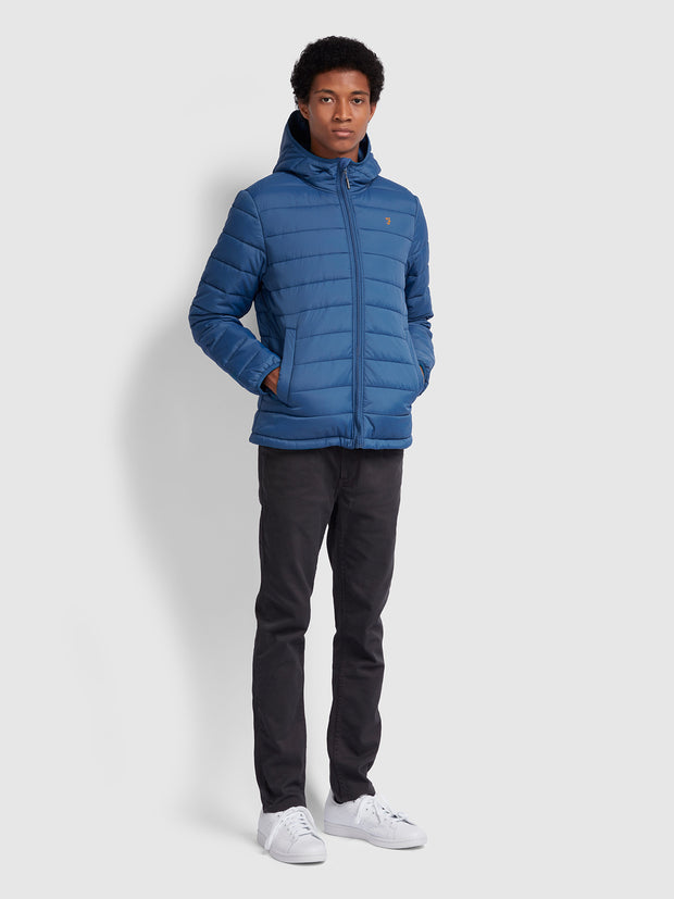 BOURNEMOUTH PUFFA JACKET IN LIGHT STEEL