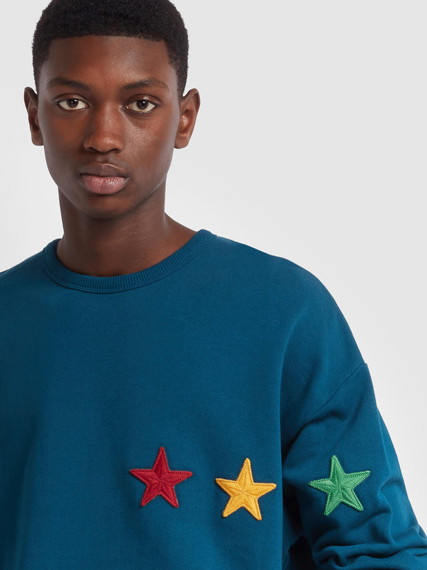 Farah X YMC Perryton Sweatshirt In Sailor Blue