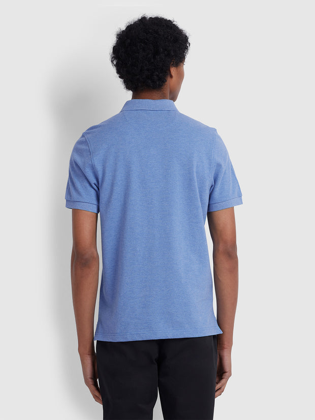 BLANES SLIM FIT POLO SHIRT IN BLUE RIVER