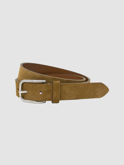 Stafford Suede Belt In Tobacco