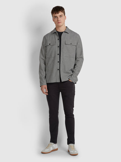 BUCKLEY RELAXED FIT OVERSHIRT IN DEEP BLACK