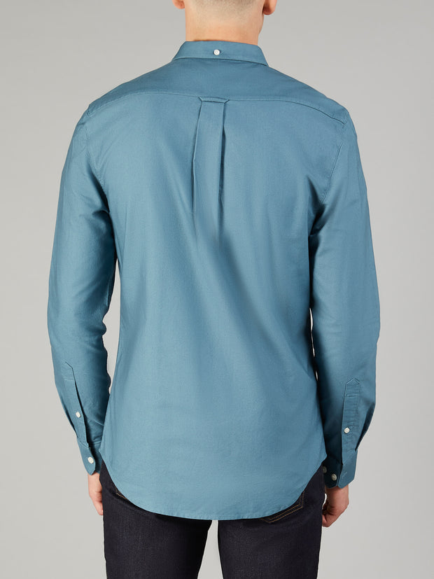 BREWER SLIM FIT OXFORD SHIRT IN OCEAN