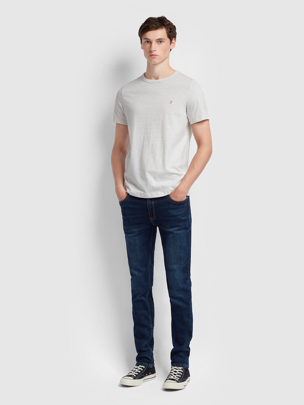 DENNIS SLIM FIT T-SHIRT IN CHALK MARL