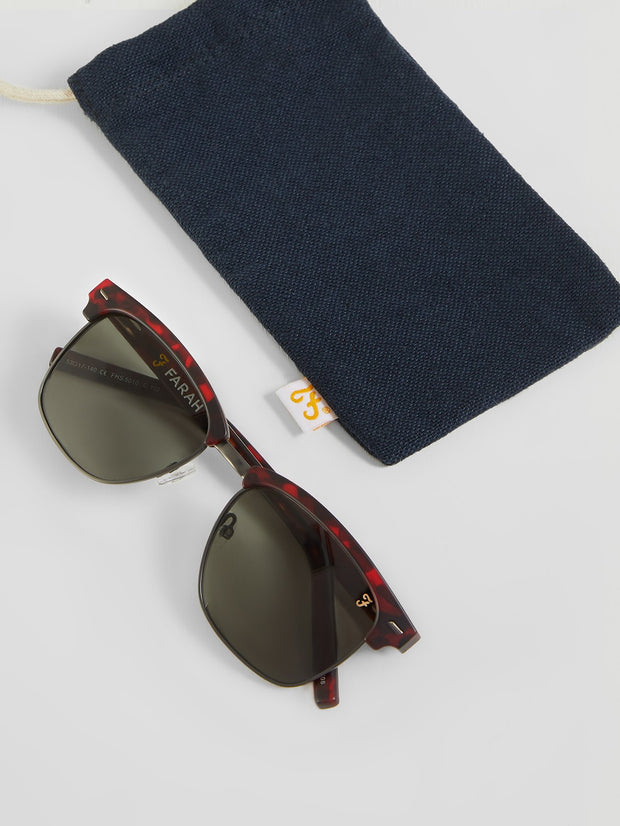 Club Tortoiseshell Sunglasses In Red