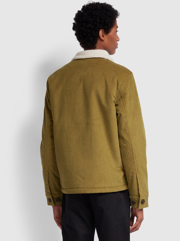 KINGSLAND BORG LINED CORDUROY JACKET IN CANVAS