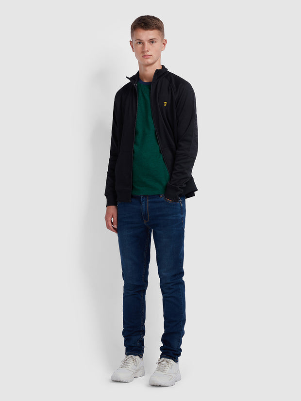 TRANMERE SKINNY FIT T-SHIRT IN DARK GREEN MARL