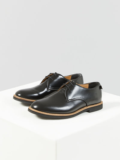 SAINT LEATHER SHOE IN BLACK