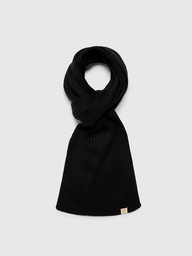 ELBERT SCARF IN BLACK