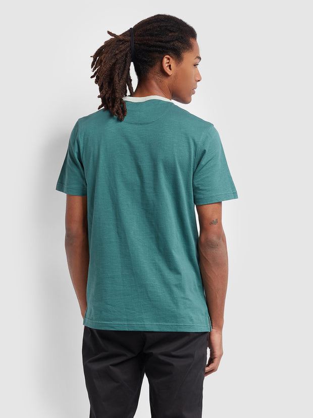 Groove Slim Fit Pocket T-Shirt In Bottle Green