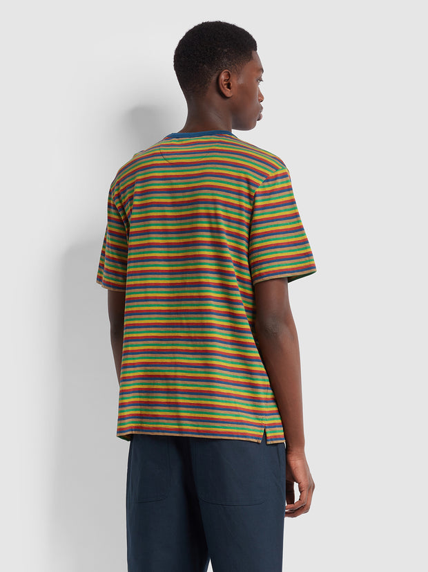 Farah X YMC Harrison T-Shirt In Sailor Blue