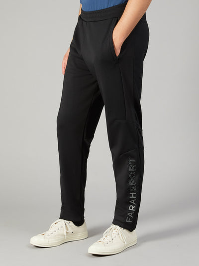 ANDISON PANELLED SWEATPANTS IN DEEP BLACK