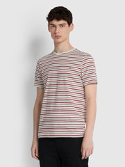 Webster Slim Fit Striped T-Shirt In Berlin Grey Marl