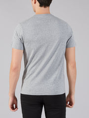 DENNY SLIM FIT MARL T-SHIRT IN GRAVEL MARL