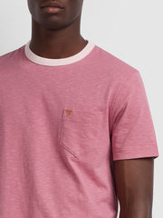 Groove Slim Fit Pocket T-Shirt In Dusty Rose