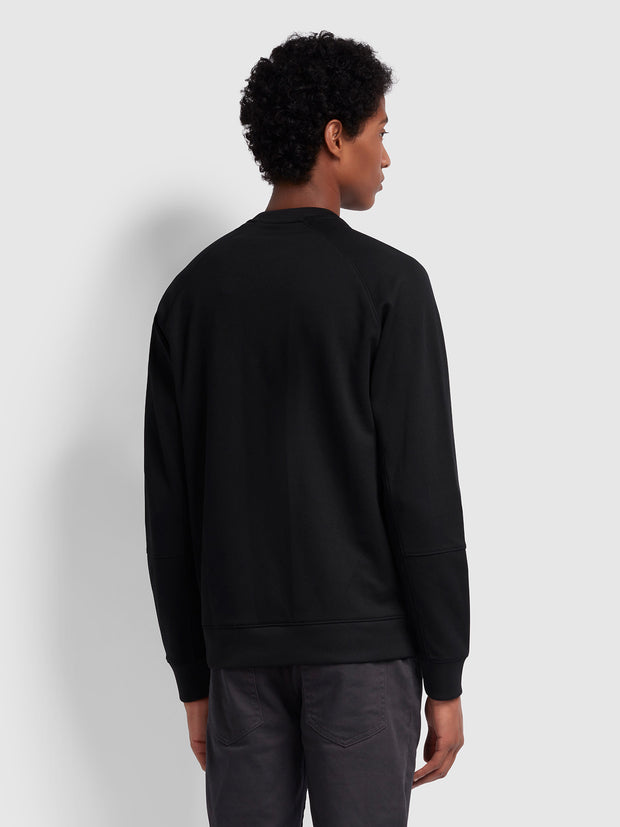 Exeter Crew Neck Sweatshirt In Deep Black