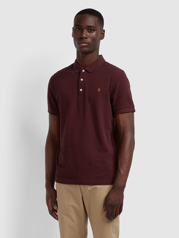 Blanes Slim Fit Polo Shirt In Farah Red Marl