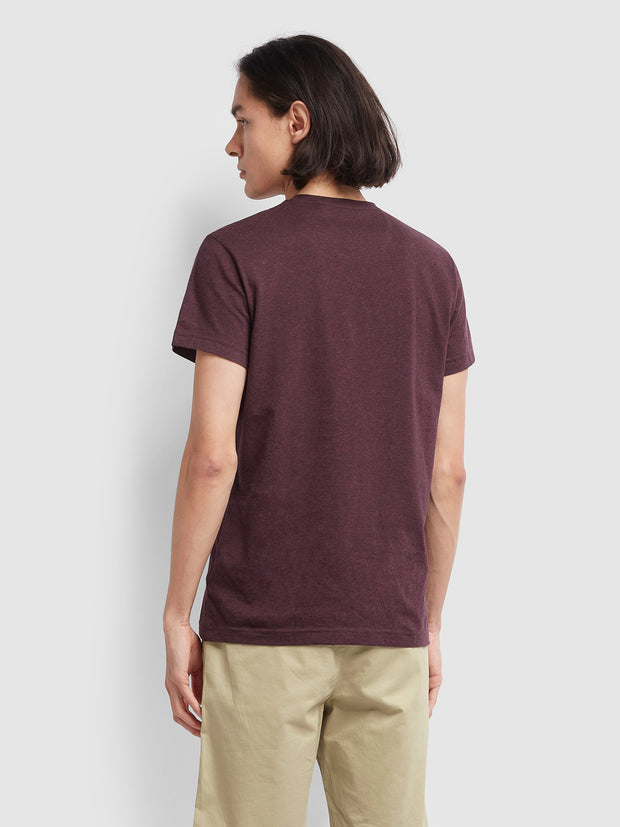 Farris Slim Fit Twin Pack T-Shirt In Farah Red Marl/True Navy