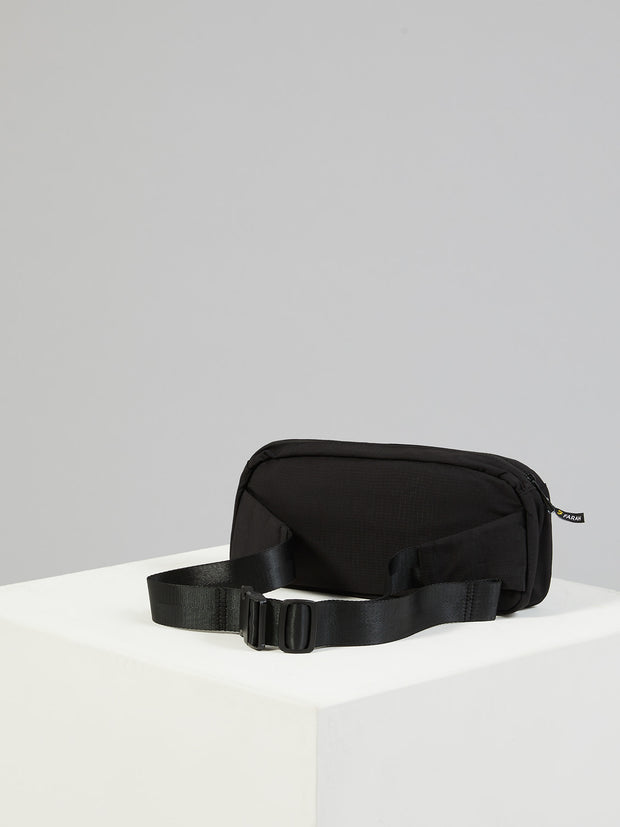 RIPSTOP NYLON UTILITY CROSSBODY BAG IN DEEP BLACK